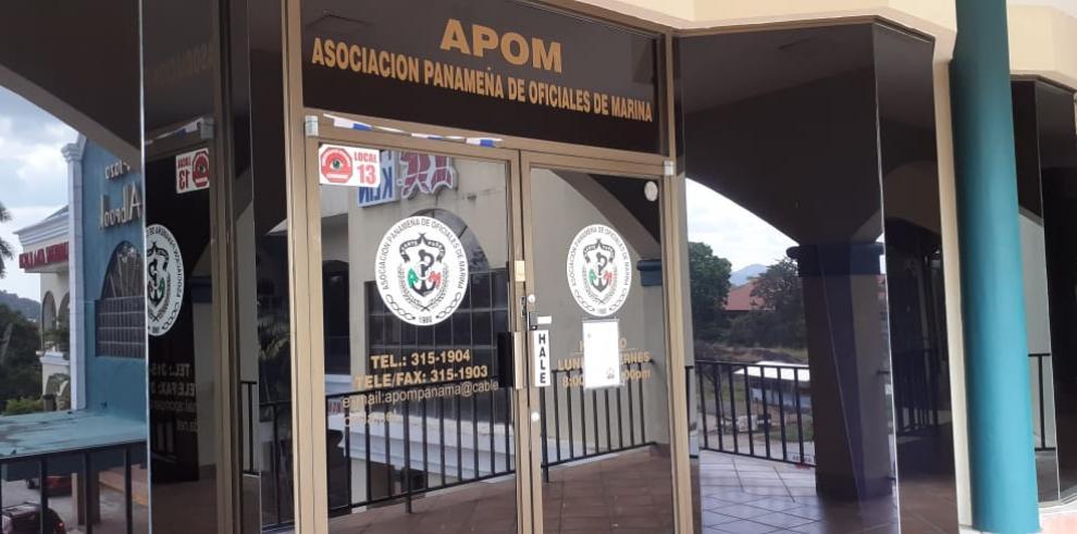 Fachada de la Asociación Panameña de Oficiales de Marina, APOM.
