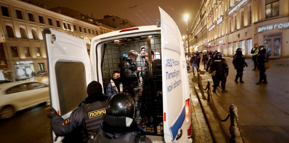 Arresto de simpatizantes de Alexéi Navalni