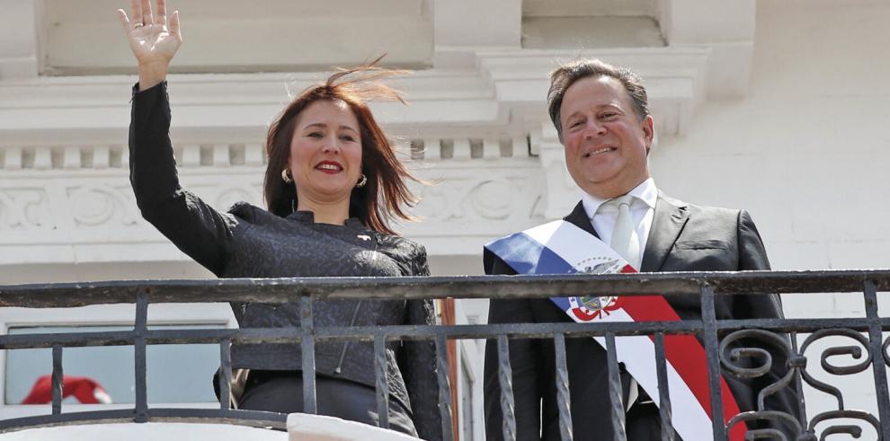 Juan Carlos Varela y Fabiola Zavarce