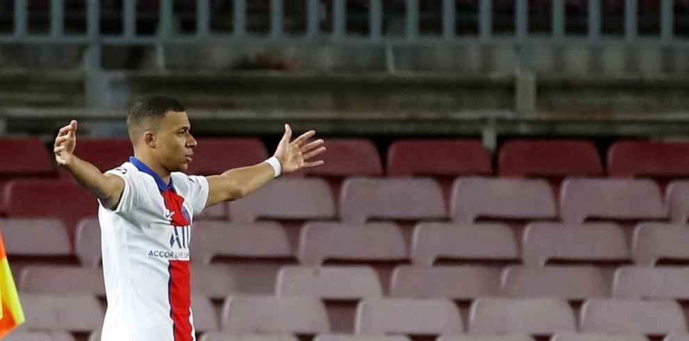 El delantero del París Saint-Germain Kylian Mbappe