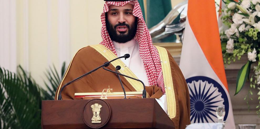 En la imagen, el príncipe heredero saudí, Mohamed bin Salman