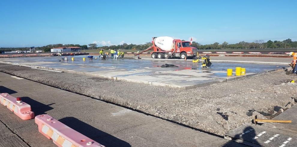 Trabajos de rehabilitación en el Aeropuerto Enrique Malek, Chiriquí.