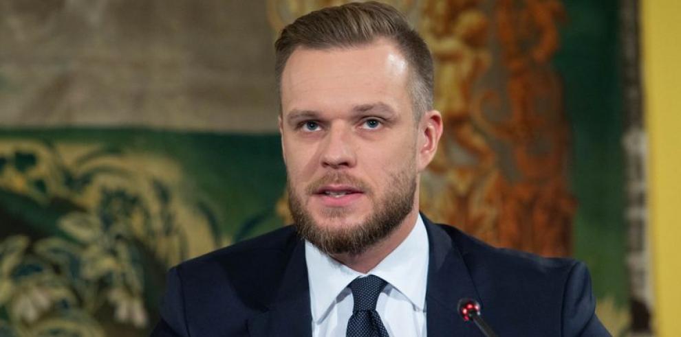 Gabrielius Landsbergis, Ministro de Relaciones Exteriores de Lituania.