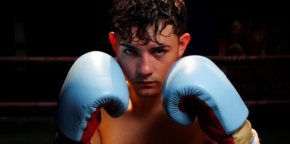 El boxeador mexicano Johansen Álvarez