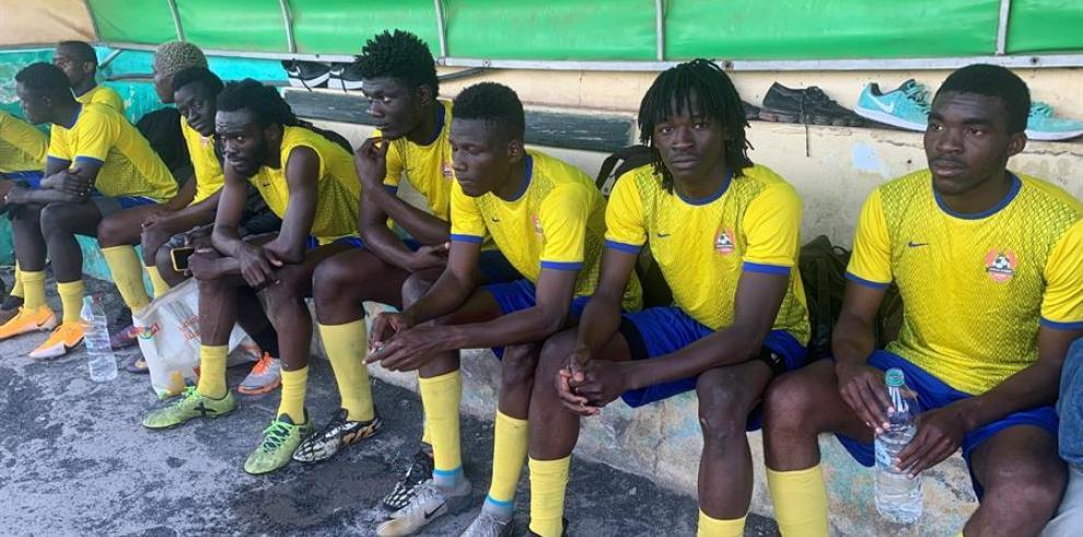 Vista de los jugadores de uno de los equipos que participan en la