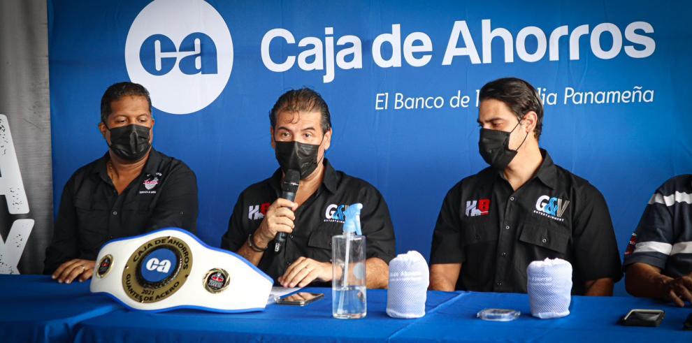 Caja de Ahorros, el banco oficial del deporte en Panamá respalda 'Guantes de Acero'.