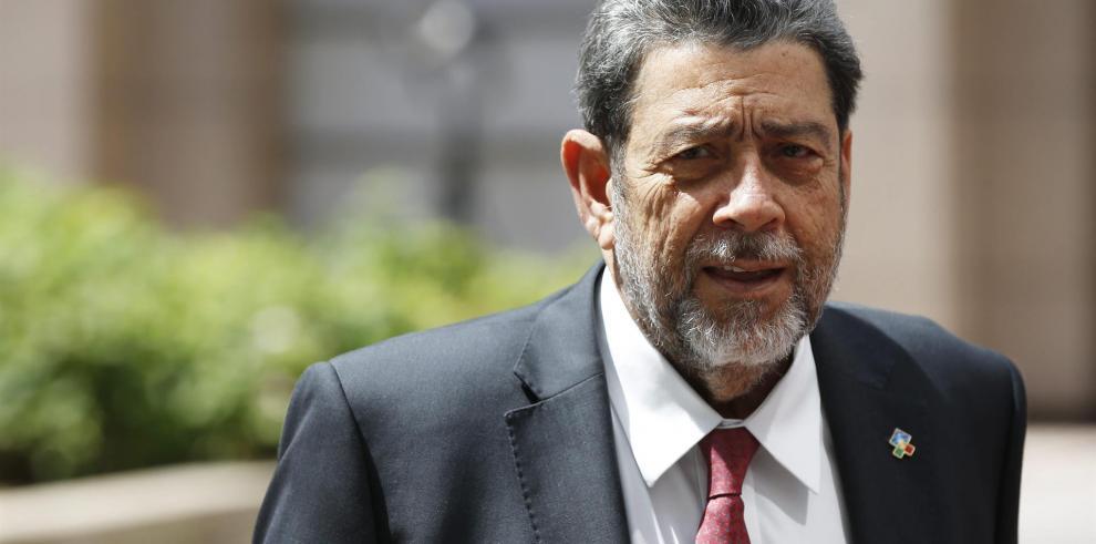 El primer ministro de San Vicente y las Granadinas, Ralph Gonsalves