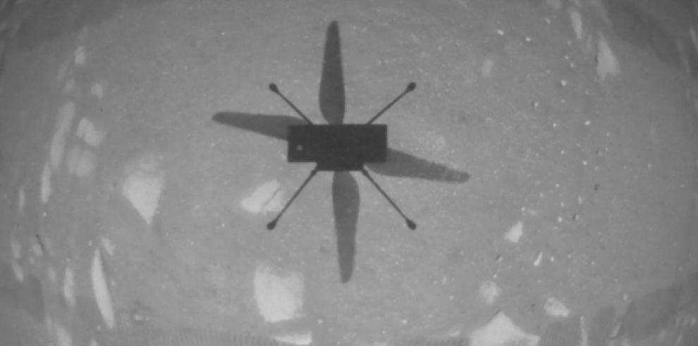 El helicóptero Ingenuity de la NASA