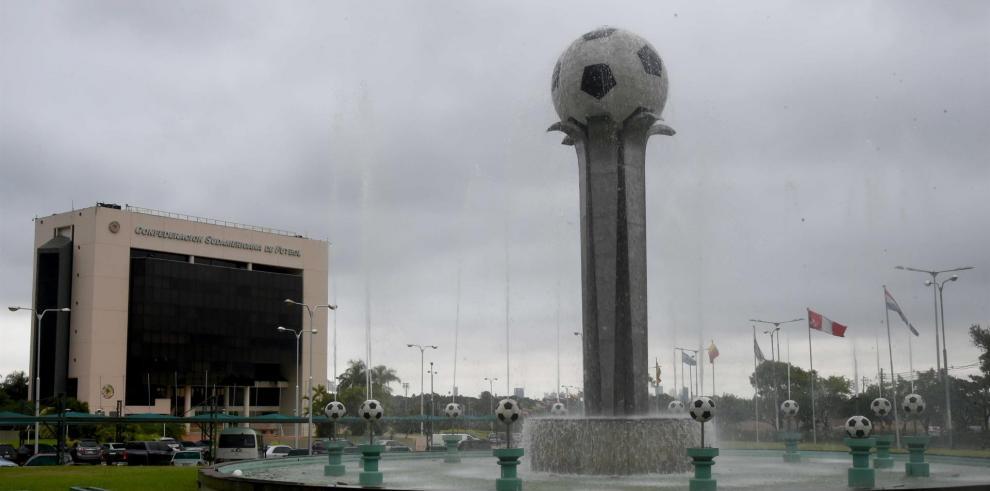 Vista de la sede de la Conmebol en la Ciudad de Luque