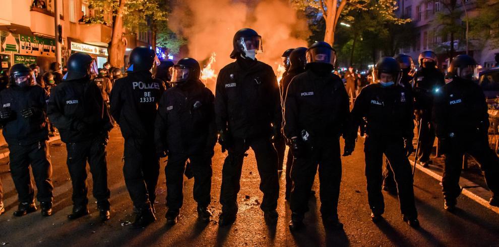 La Policía de Berlín se había desplegado por las calles de la capital, con unos 5.600 agentes