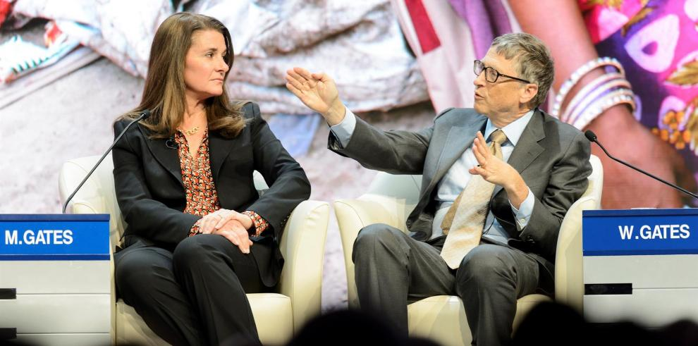 Melinda French Gates y Bill Gates.