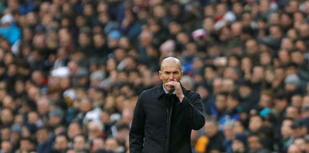 El entrenador francés del Real Madrid, Zinedine Zidane.