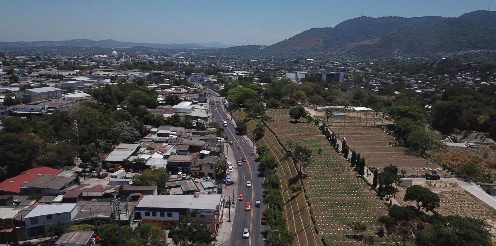 Vista aérea de San Salvador