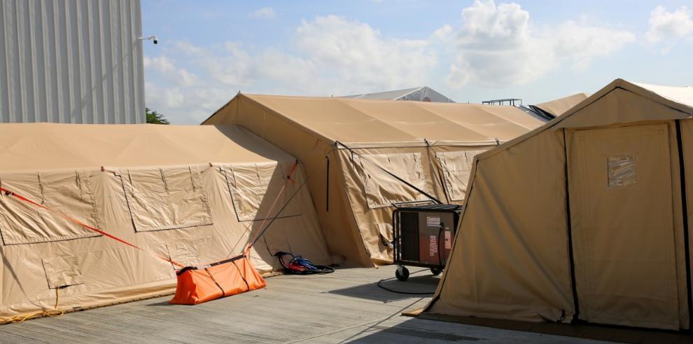 Panamá dona a Costa Rica hospital de campaña con 40 camas