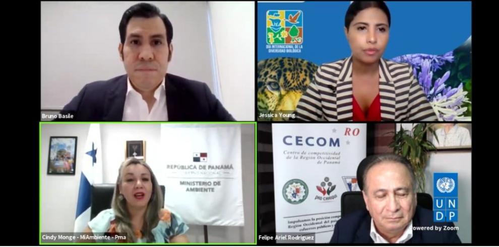 Panelistas de evento del PNUD