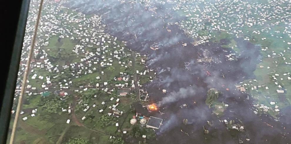 La mayoría de muertos registrados hasta ahora han sido calcinados por la lava o asfixiados por los gases que libera el magma