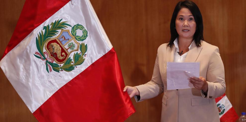 La candidata presidencial peruana Keiko Fujimori, del partido Fuerza Popular.