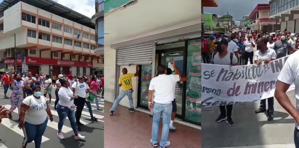 Protesta de Nueva Generación en Colón