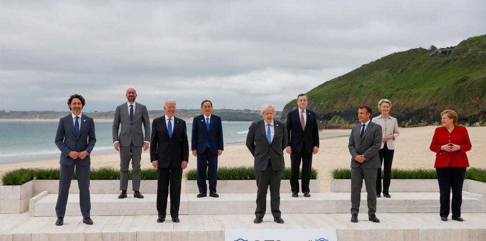 Los líderes del G7 reunidos en Cornualles