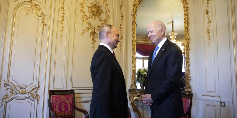 Joe Biden, presidente de EEUU y Vladimir Putin, presidente de Rusia.