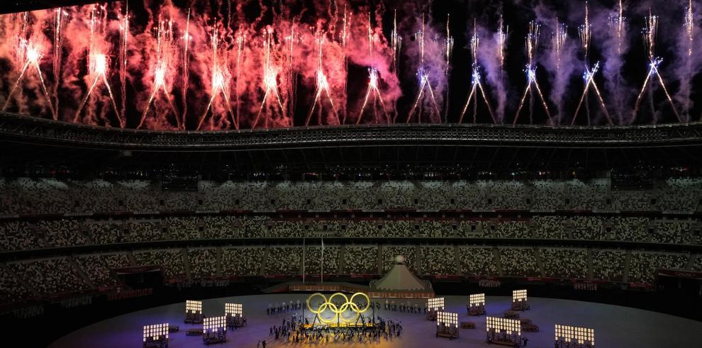 Ceremonia inaugural de los juegos olímpicos de Tokio.
