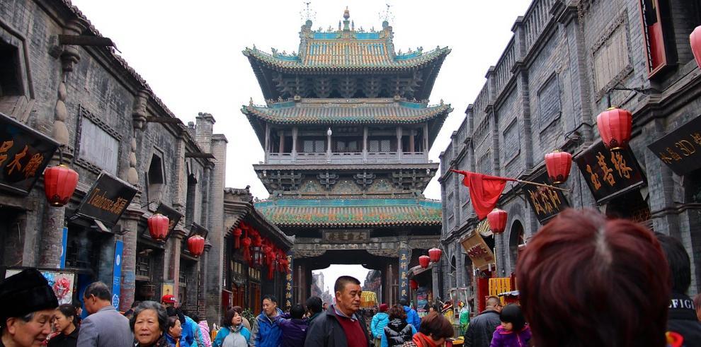 Vista de la ciudad de Shanxi, China