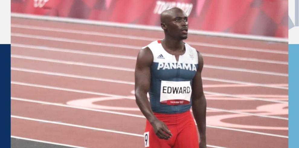 Alonso Edward no finalizó su serie clasificatoria por aparente lesión muscular