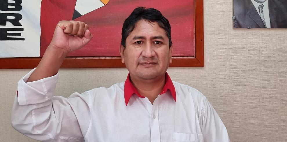 Valdimir Cerrón, presidente del gobernante partido Perú Libre.