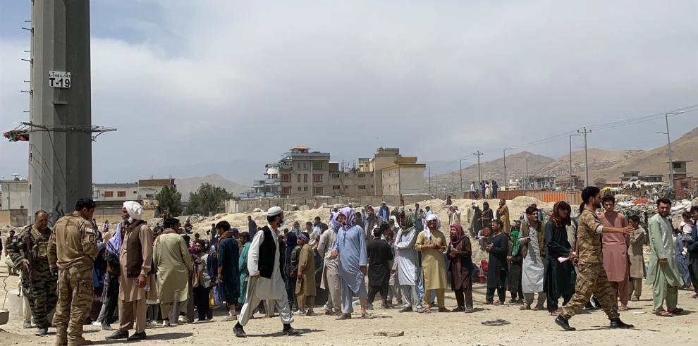Vista del aeropuerto internacional Hamid Karzai