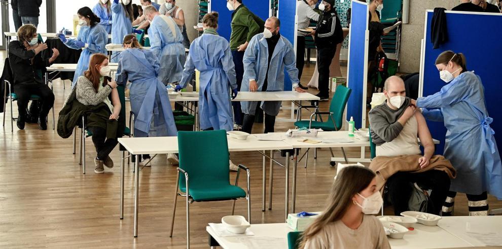 Centro de vacunación en Alemania.
