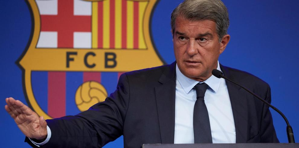 El presidente del Barcelona, Joan Laporta el pasado lunes.