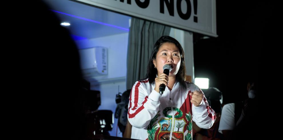 La tres veces candidata a la presidencia del Perú, Keiko Fujimori.
