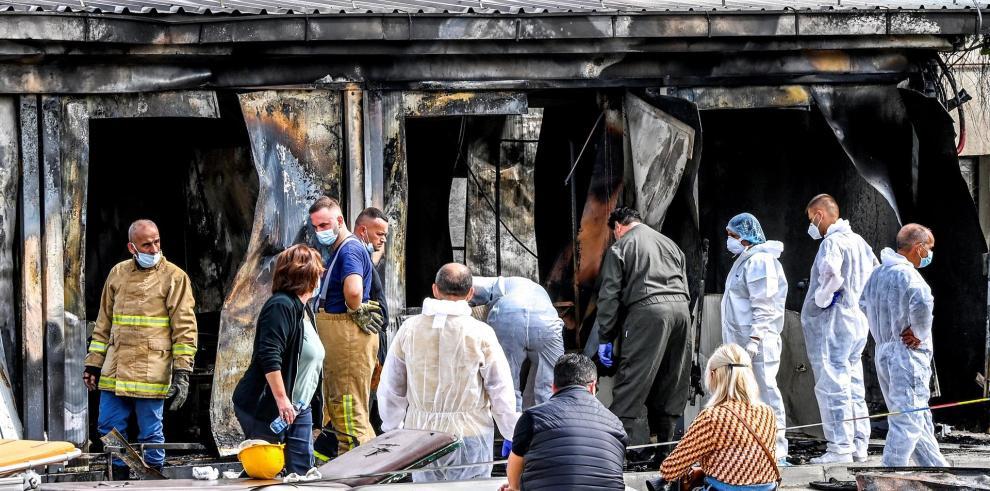 El número de muertos en el incendio de una unidad covid en Tetovo asciende a 14