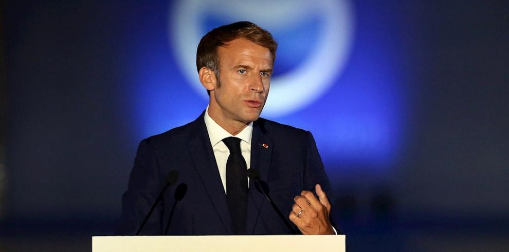 Emmanuel Macron, presidente francés.