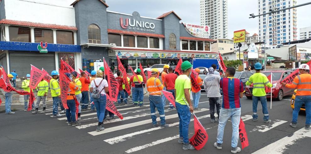 Protesta de Suntracs