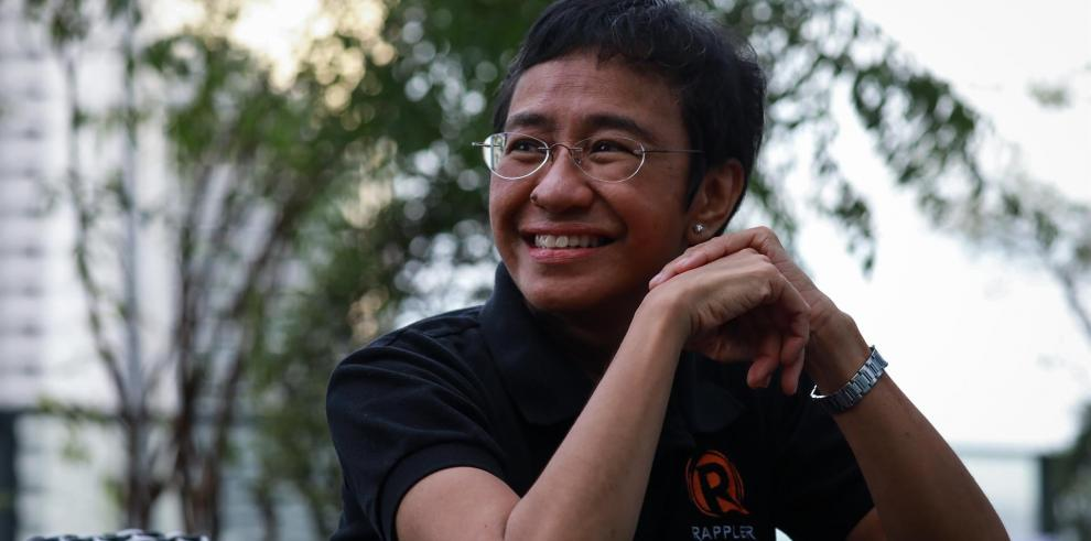 La periodista filipina Maria Ressa, galardonada con el Premio Nobel de la Paz 2021